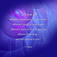 """We are all different expressions of one reality"" [from the Collaborative Emergence deck]"