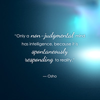 """Non-judgmental mind ... spontaneously responding"" [from the Collaborative Emergence deck]"